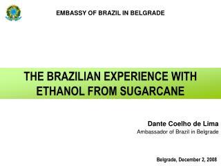 Dante Coelho de Lima Ambassador of Brazil in Belgrade