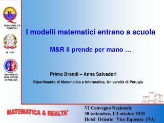 I modelli matematici entrano a scuola