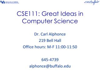 CSE111: Great Ideas in Computer Science