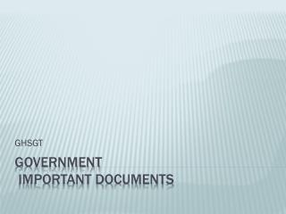 Government  important documents