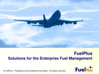 FuelPlus   Solutions for the Enterprise Fuel Management