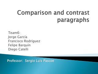 Comparison  and  contrast paragraphs