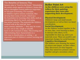 The Benefits of Sensory Play
