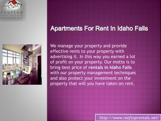 Best apartments idaho falls