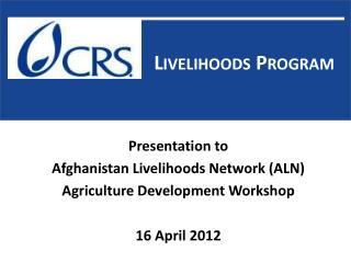 Livelihoods  P rogram