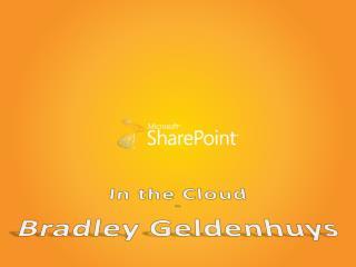 In the Cloud By Bradley Geldenhuys