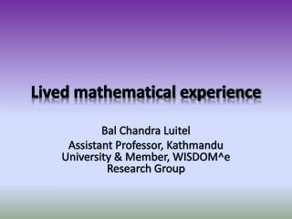 Lived mathematical experience