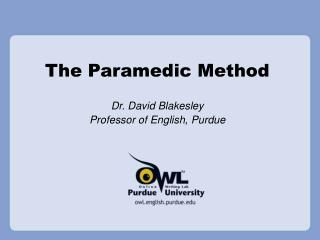 The Paramedic Method