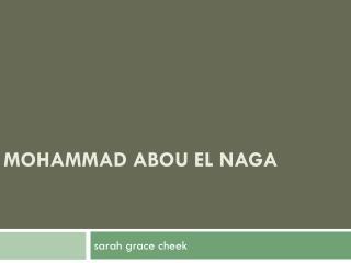 Mohammad  Abou El  Naga