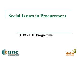 Social Issues in Procurement