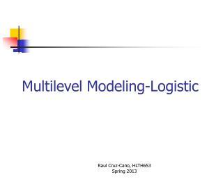 Multilevel Modeling-Logistic