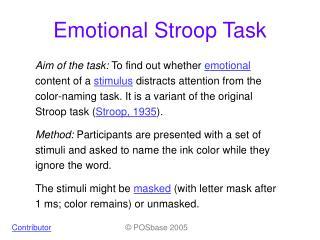 Emotional Stroop Task