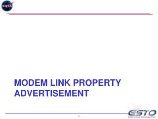 Modem Link Property Advertisement