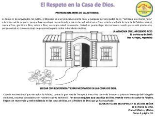 El Respeto en la Casa de Dios.