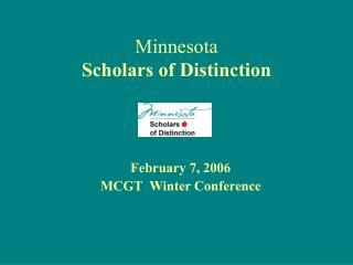 Minnesota Scholars of Distinction