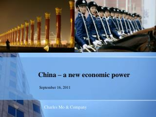 China – a new economic power