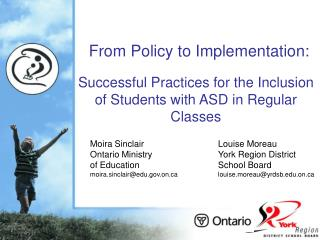 Successful Practices for the Inclusion of Students with ASD in Regular Classes