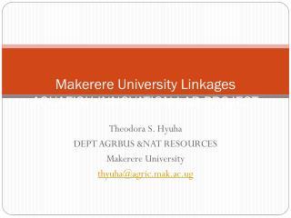 Makerere University  Linkages AQUAFISH INNOVATION LAB PROJECT