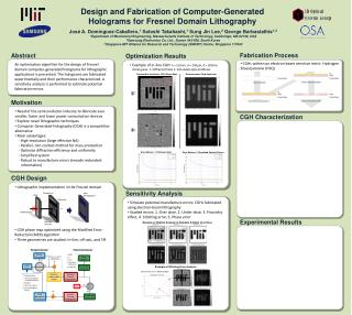 Design and Fabrication of Computer-Generated Holograms for Fresnel Domain Lithography