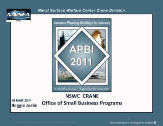 NSWC  CRANE   Office of Small Business Programs