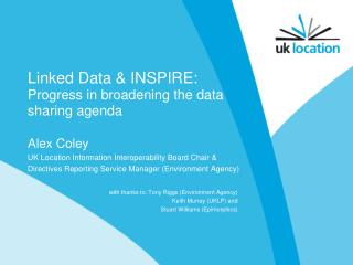 Linked Data & INSPIRE: Progress in broadening the data sharing agenda