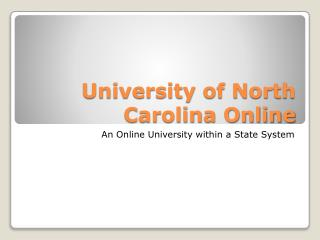 University of North Carolina Online