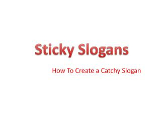 How To Create a Catchy Slogan