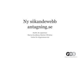 Ny s�kandewebb antagning.se