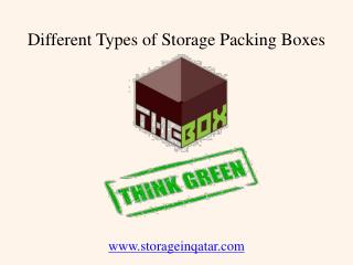 Different Types of Storage Packing Boxes in Qatar