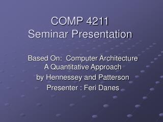 COMP 4211 Seminar Presentation