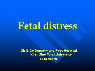 Fetal distress