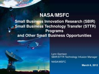 NASA/MSFC Small Business Innovation Research (SBIR)