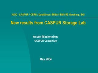 Andrei Maslennikov CASPUR Consortium May 2004