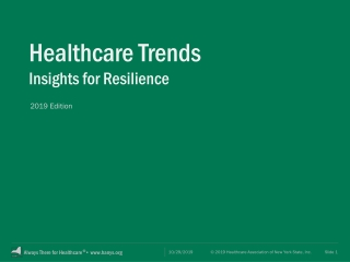 Forces Driving the Future of Health Care in the United States
