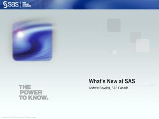 What�s New at SAS