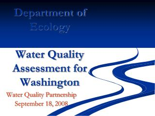 Department of Ecology Water Quality Assessment for Washington