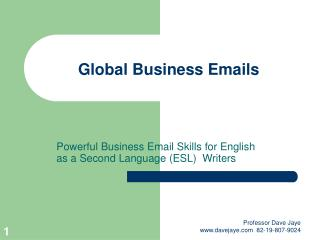 Global Business Emails