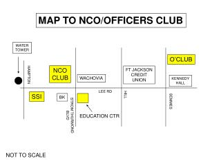 MAP TO NCO/OFFICERS CLUB