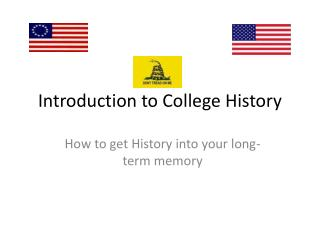 Introduction to College History
