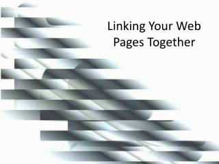 Linking Your Web Pages Together