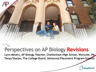Perspectives on AP Biology  Revisions