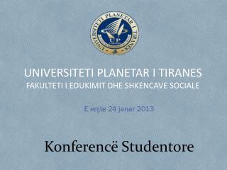 Konferencë Studentore