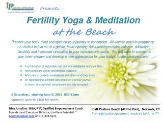 Fertility Yoga  & Meditation  at the Beach