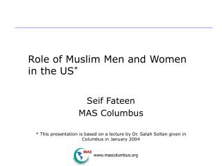 Role of Muslim Men and Women in the US *