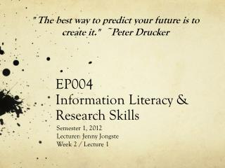 EP004 Information Literacy & Research Skills