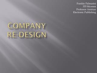 Company  Re-Design