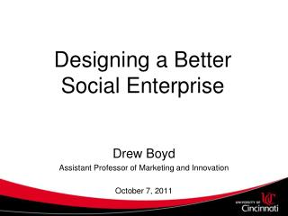 Designing a Better Social Enterprise