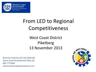From LED to Regional Competitiveness