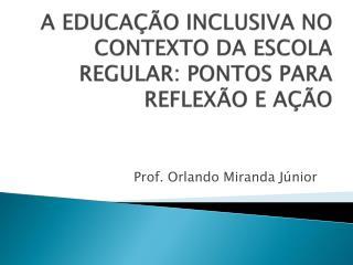 A EDUCAÇÃO INCLUSIVA NO CONTEXTO DA ESCOLA REGULAR: PONTOS PARA REFLEXÃO E AÇÃO