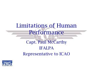 Limitations of Human Performance